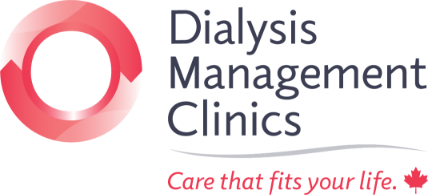 dialysis management clinics logo with red circle